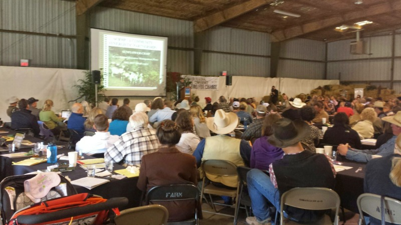 The Chico State University Farm Pavilion was packed with attendees.